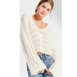 Urban Outfitters Shredded Crop Sweater